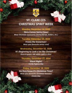 Christmas Spirit Week @ SCE