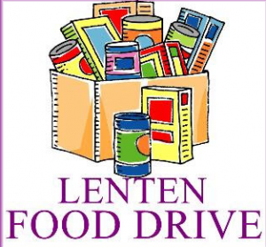One Day Lenten Food Drive